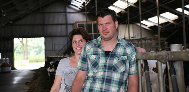 Ron Kleinsman en Geke Enting - melkveehouders in Zwiggelte